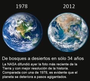 la desertificación de la Tierra