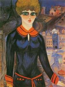 Autorretrato de Nahui Olin como colegiala en París