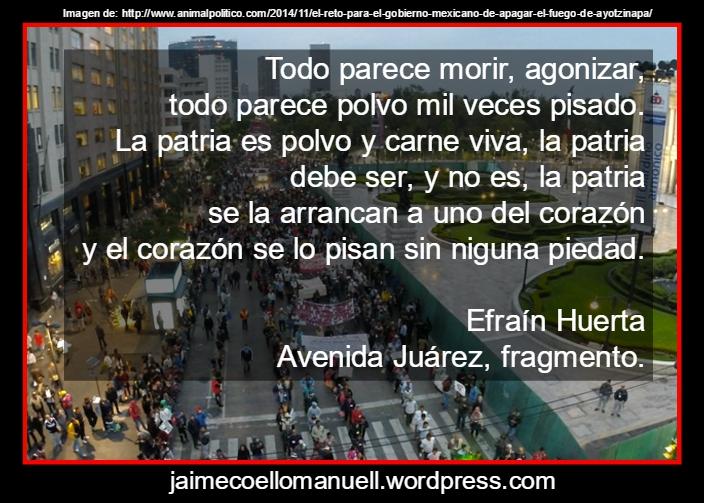 Un poema poderosísimo de Efraín, Avenida Juárez